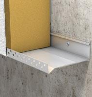 Système de profilés réglables pour départ d'isolant de façade