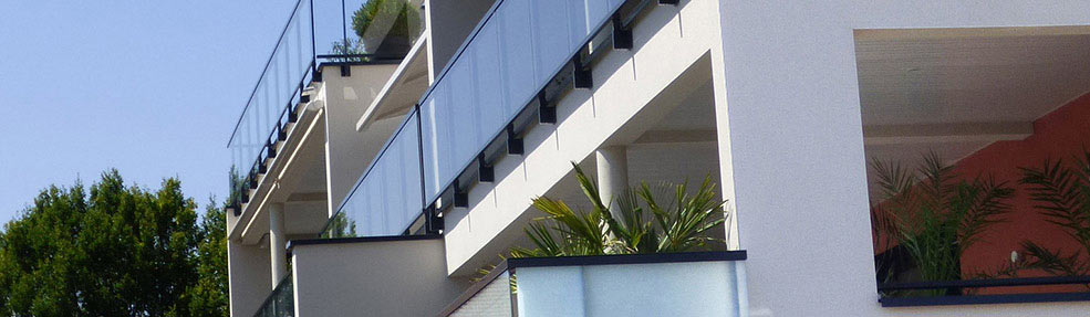 aluminium railing Panorama for balcony or terrace