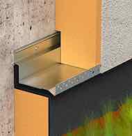 Système de solin et de départ d'isolation thermique par l'extérieur